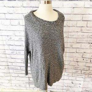 Lou & Grey Gray Marled popover sweater